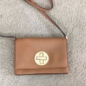 💕 Kate spade brown shoulder leather small purse